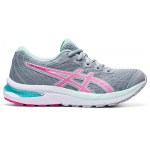 ASICS GEL-Cumulus 22 GS Girls Running Shoe - PIEDMONT GREY/PINK GLO ASICS GEL-Cumulus 22 GS Girls Running Shoe - PIEDMONT GREY/PINK GLO