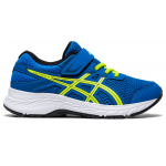 ASICS Contend 6 PS VELCRO Boys Running Shoe - Directoire Blue/Lime Zest ASICS Contend 6 PS VELCRO Boys Running Shoe - Directoire Blue/Lime Zest
