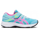 ASICS Contend 6 PS VELCRO Girls Running Shoe - Ocean Decay/Dragon Fruit ASICS Contend 6 PS VELCRO Girls Running Shoe - Ocean Decay/Dragon Fruit