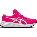 ASICS Patriot 12 GS Girls Running Shoe - Pink Glo/White ASICS Patriot 12 GS Girls Running Shoe - Pink Glo/White
