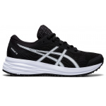 ASICS Patriot 12 GS Boys Running Shoe - Black/White ASICS Patriot 12 GS Boys Running Shoe - Black/White