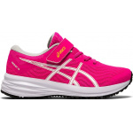 ASICS Patriot 12 PS VELCRO Girls Running Shoe - PINK GLO/WHITE ASICS Patriot 12 PS VELCRO Girls Running Shoe - PINK GLO/WHITE