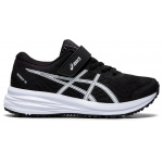 ASICS Patriot 12 PS VELCRO Boys Running Shoe - BLACK/WHITE ASICS Patriot 12 PS VELCRO Boys Running Shoe - BLACK/WHITE