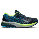 ASICS GEL-Cumulus 22 GS Boys Running Shoe - French Blue/Hazard Green ASICS GEL-Cumulus 22 GS Boys Running Shoe - French Blue/Hazard Green