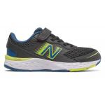 New Balance 680v6 BO VELCRO Kids Running Shoe -  Black/Oxygen Blue/Sulphur Yellow New Balance 680v6 BO VELCRO Kids Running Shoe -  Black/Oxygen Blue/Sulphur Yellow