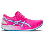 ASICS Hyperspeed Womens Racing Shoe - Hot Pink/White ASICS Hyperspeed Womens Racing Shoe - Hot Pink/White