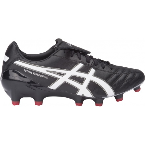 e9efa1ad04d8 Asics Lethal Testimonial 4 IT Adults Football Boot - Black White Silver  Asics Lethal