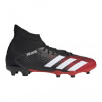 Adidas Predator 20.3 FG Adults Football Boot - Core Black/FTWR White/Active Red Adidas Predator 20.3 FG Adults Football Boot - Core Black/FTWR White/Active Red