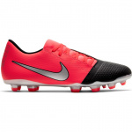 Nike PhantomVNM Club FG Adults Football Boot - LASER CRIMSON/METALLIC SILVER Nike PhantomVNM Club FG Adults Football Boot - LASER CRIMSON/METALLIC SILVER