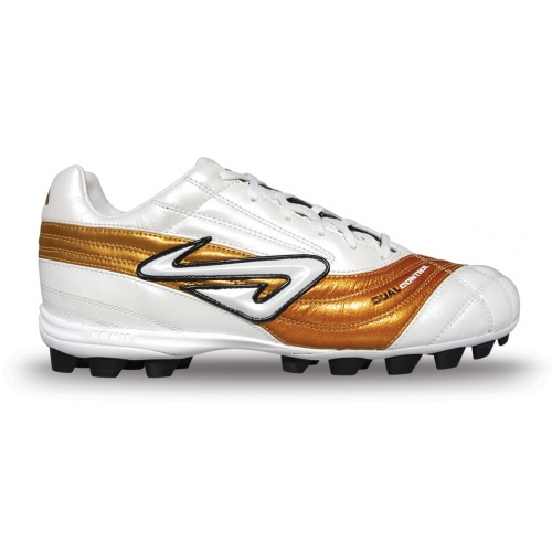Nomis HG Pro DC Junior Football Boot - Pearl White / Gold/Black/Sperry Gum - 511520