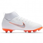 Nike Superfly 6 Academy GS FG/MG Kids Football Boot - WHITE/MTLC COOL GREY-TOTAL ORANGE - MAY Nike Superfly 6 Academy GS FG/MG Kids Football Boot - WHITE/MTLC COOL GREY-TOTAL ORANGE - MAY