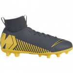 Nike Superfly 6 Club MG Kids Football Boot - DARK GREY/BLACK-OPTI YELLOW Nike Superfly 6 Club MG Kids Football Boot - DARK GREY/BLACK-OPTI YELLOW