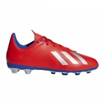 adidas X 18.4 FxG Kids Football Boot - active red/silver met./bold blue adidas X 18.4 FxG Kids Football Boot - active red/silver met./bold blue