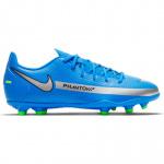 Nike Phantom GT Club MG Kids Football Boot - Photo Blue/Metallic Silver Nike Phantom GT Club MG Kids Football Boot - Photo Blue/Metallic Silver