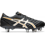 ASICS Lethal Warno ST2 Adults Rugby Boot - BLACK/PURE GOLD ASICS Lethal Warno ST2 Adults Rugby Boot - BLACK/PURE GOLD