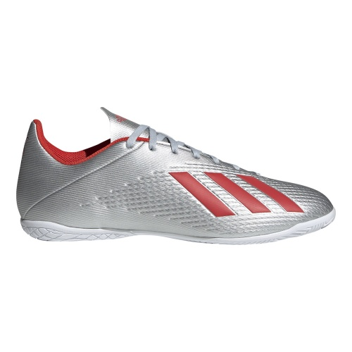 promo code 526aa 321be ADIDAS X 19.4 Adults INDOOR FOOTBALL BOOT - silver met/HI-RES RED/ftwr white