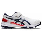 ASICS Speed Menace FF Adults Cricket Shoe - WHITE/PEACOAT ASICS Speed Menace FF Adults Cricket Shoe - WHITE/PEACOAT