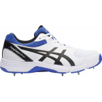Asics GEL-100 Not Out Senior Cricket Shoe - White/Onyx/Blue Asics GEL-100 Not Out Senior Cricket Shoe - White/Onyx/Blue