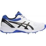 Asics GEL-100 Not Out Senior Cricket Shoe - White/Onyx/Blue Asics GEL-100 Not Out Senior Cricket Shoe - White/Onyx/Blue