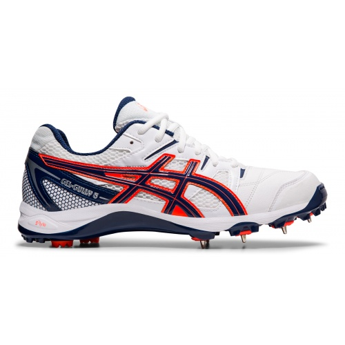 Asics GEL-Gully 5 Adults Cricket Shoe - WHITE/BLUE EXPANSE