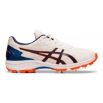 ASICS Strike Rate FF Adults Cricket Shoe - WHITE/BLUE EXPANSE ASICS Strike Rate FF Adults Cricket Shoe - WHITE/BLUE EXPANSE