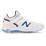 New Balance CK4040v4 D Adults Cricket Shoe - White/Blue - Vivid Cobalt/Munsell White New Balance CK4040v4 D Adults Cricket Shoe - White/Blue - Vivid Cobalt/Munsell White
