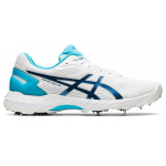 ASICS 350 Not Out FF Womens Cricket Shoe - White/Mako Blue ASICS 350 Not Out FF Womens Cricket Shoe - White/Mako Blue