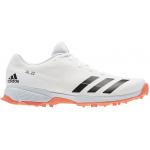 Adidas Adizero SL22 Adults Spike Cricket Shoe - WHITE/Orange Adidas Adizero SL22 Adults Spike Cricket Shoe - WHITE/Orange