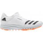 Adidas Howzat Adults Spike Cricket Shoe - White/Orange Adidas Howzat Adults Spike Cricket Shoe - White/Orange