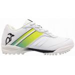 Kookaburra Pro 5.0 Rubber Kids Cricket Shoe - WHITE/LIME Kookaburra Pro 5.0 Rubber Kids Cricket Shoe - WHITE/LIME