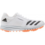 Adidas Howzat Kids Spike Cricket Shoe - WHITE/ORANGE Adidas Howzat Kids Spike Cricket Shoe - WHITE/ORANGE
