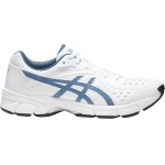 Asics GEL-195TR 4E XTRA WIDE Men's Cross Training Shoe - WHITE/STEEl BLUE Asics GEL-195TR 4E XTRA WIDE Men's Cross Training Shoe - WHITE/STEEl BLUE