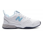 New Balance WX624WB4 D Women's Cross Training Shoe - White/Blue New Balance WX624WB4 D Women's Cross Training Shoe - White/Blue