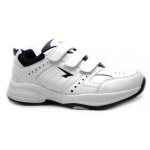 SFIDA Defy Leather VELCRO Junior Cross Training Shoe - WHITE/NAVY SFIDA Defy Leather VELCRO Junior Cross Training Shoe - WHITE/NAVY