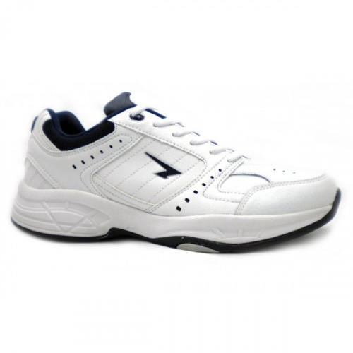 SFIDA Defy Leather Junior Cross Training Shoe - WHITE/NAVY