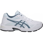 Asics GEL-195TR GS Leather Boys Cross Training Shoe - WHITE/STEEL BLUE Asics GEL-195TR GS Leather Boys Cross Training Shoe - WHITE/STEEL BLUE