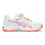 ASICS GEL-540TR PS VELCRO Girls Cross Training Shoe - WHITE/PINK GLO ASICS GEL-540TR PS VELCRO Girls Cross Training Shoe - WHITE/PINK GLO