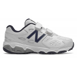 New Balance YU680v3 VELCRO Junior Cross Training Shoe - WHITE/NAVY New Balance YU680v3 VELCRO Junior Cross Training Shoe - WHITE/NAVY