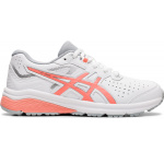 ASICS GT-1000 Synthetic Leather Girls Cross Training Shoe - WHITE/GUAVA ASICS GT-1000 Synthetic Leather Girls Cross Training Shoe - WHITE/GUAVA