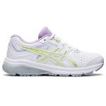 ASICS GT-1000 Synthetic Leather Girls Cross Training Shoe - WHITE/PURE SILVER ASICS GT-1000 Synthetic Leather Girls Cross Training Shoe - WHITE/PURE SILVER
