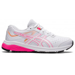 ASICS GT-1000 Synthetic Leather Kids Cross Training Shoe - WHITE/HOT PINK ASICS GT-1000 Synthetic Leather Kids Cross Training Shoe - WHITE/HOT PINK