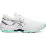 ASICS GEL-Netburner 20 D WIDE Womens Netball Shoe - WHITE/PURE SILVER ASICS GEL-Netburner 20 D WIDE Womens Netball Shoe - WHITE/PURE SILVER