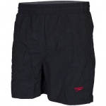 SPEEDO BOY'S SOLID LEISURE SHORT - BLACK SPEEDO BOY'S SOLID LEISURE SHORT - BLACK