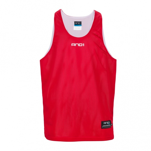 And1 Reversible Basketball Singlet - RED/WHITE