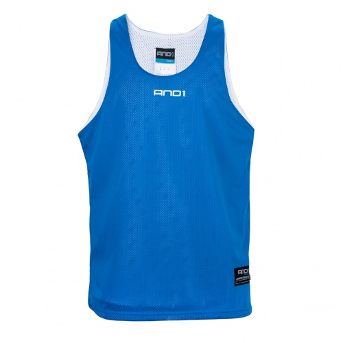 And1 Reversible Basketball Singlet - ROYAL/WHITE