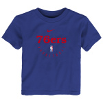 Nike Philadelphia 76'ers NBA Small Kids Essential Practice Dry Tee - BLUE Nike Philadelphia 76'ers NBA Small Kids Essential Practice Dry Tee - BLUE