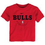 Nike Chicago Bulls NBA Kids Essential Practice Dry Tee - RED Nike Chicago Bulls NBA Kids Essential Practice Dry Tee - RED