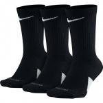 Nike Elite Crew Basketball Socks - BLACK (3pk) Nike Elite Crew Basketball Socks - BLACK (3pk)