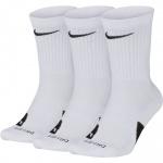 Nike Elite Crew Basketball Socks - WHITE (3pk) Nike Elite Crew Basketball Socks - WHITE (3pk)