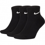 Nike Everyday Cushioned Ankle Socks (3 Pair) - BLACK Nike Everyday Cushioned Ankle Socks (3 Pair) - BLACK
